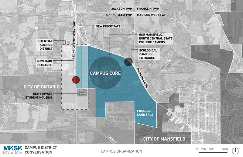 Campus District Envisioned The Ohio State University At Mansfield