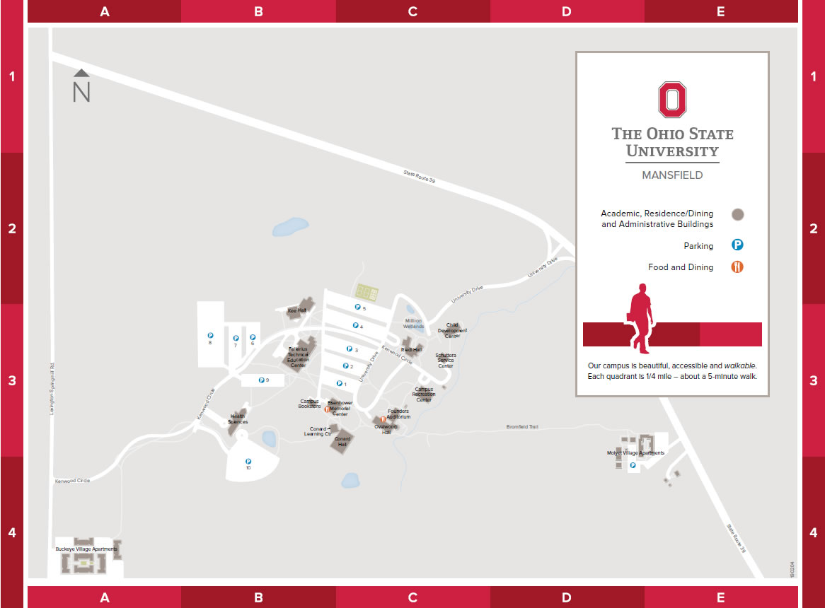 Map The Ohio State University at Mansfield