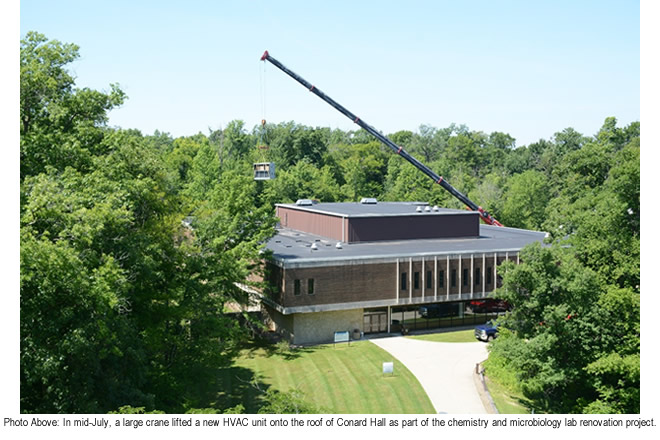 Chemistry And Microbiology Lab Renovation Project Underway